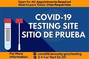 Schedule a COVID-19 test at Exposition Park
